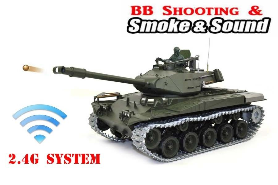 Heng Long  RC tank 2.4G WALKER BULLDOG Military Shooting Smoking Sounding 1 16