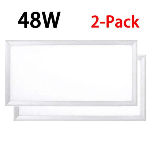 1000LED 36W LED Panel Light 0-10V Dimmable 5000K Ceiling Light AC110-277V 2-Pack