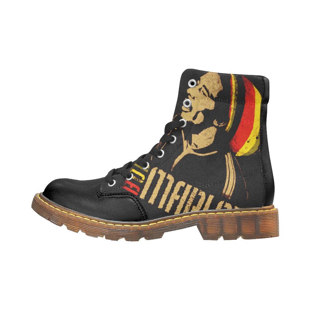 Bob Marley Rasta Martens Stivali Invernali da Uomo