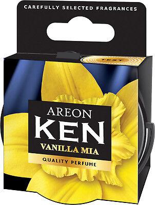 12x Originale Areon Ken Auto Albero Profumato Deodoranti Coperchio Vaniglia Mia