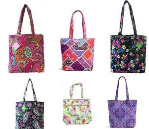 Vera Bradley Tote Bag Pink Swirls Tutti Frutti Plum Crazy Petal ... f31b32b894ab9