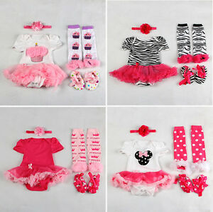 Kids-Newborn-Infant-Baby-Girl-Headband-Romper-Leg-Warmers-Shoes-Set-Clothing
