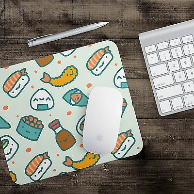 Cute Sushi Japanese Design Lovely Mouse Pad Natural Robber Stiched Edge Mat