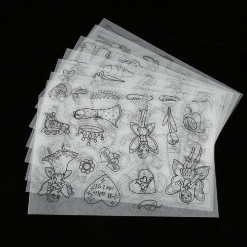 8x Printer Inkjet Shrink Film Plastic Sheets Paper for Jewelry Craft Designs
