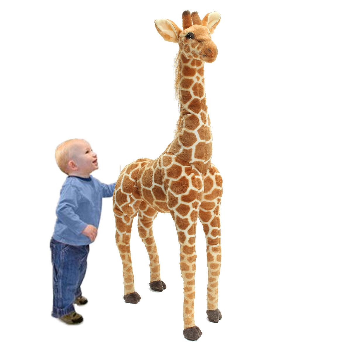 US Big Plush Giraffe Toy Doll Giant Large Stuffed Animal Soft Doll Kid Gift 40''