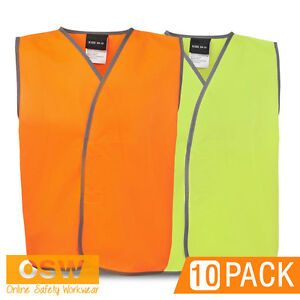 10-X-KIDS-SCHOOL-HI-VIS-SAFETY-VESTS-DAY-USE-ORANGE-YELLOW-SIZES-0-14