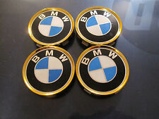 BMW 3 series wheel center caps hubcaps emblem badge OEM 1095361 set of 4 GOLD