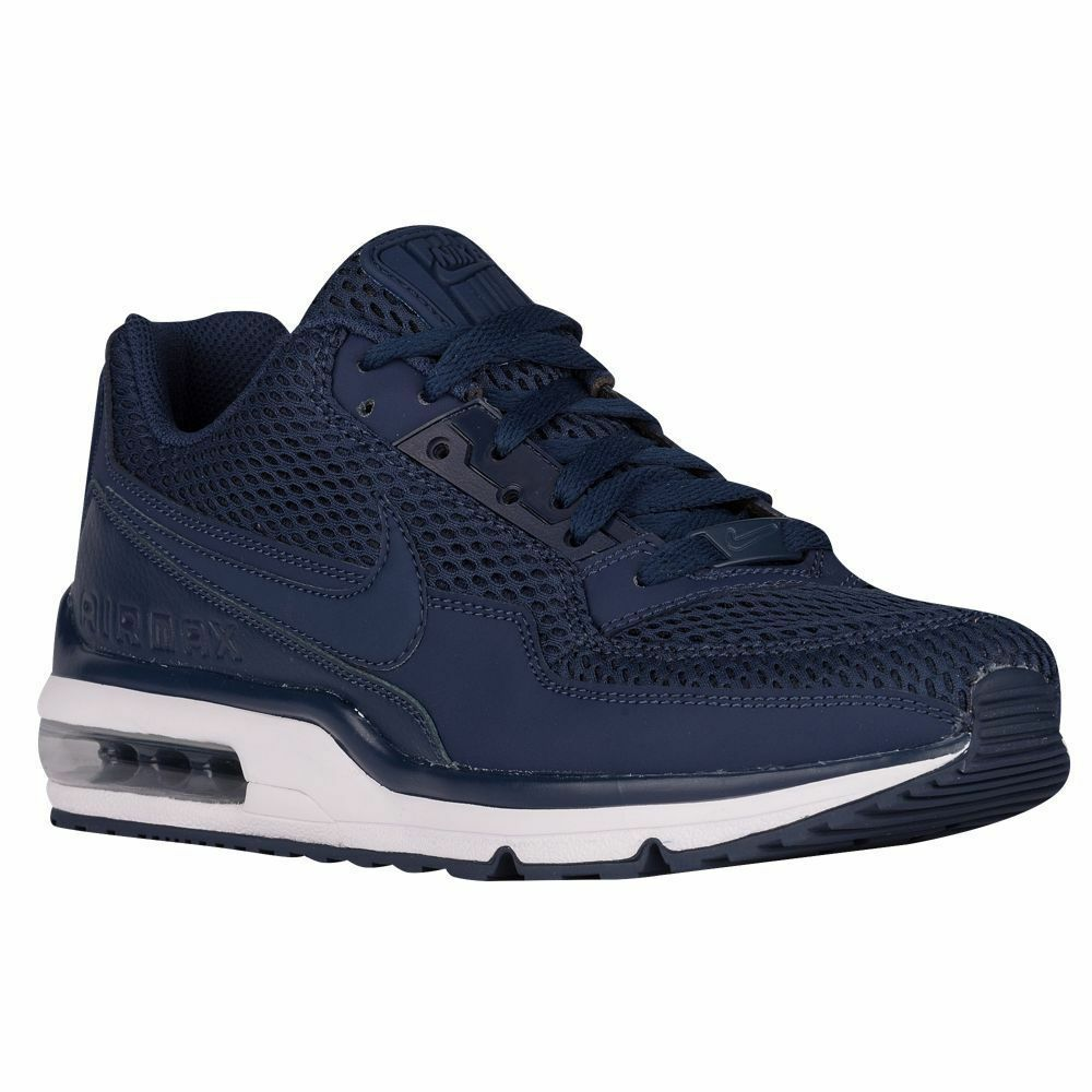 NIKE Air Max LTD 3 BR Men's Sz 8 shoes 842365 441 Midnight Navy White