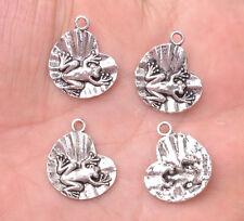 20PCS Tibet silver lotus leaf frog charm bracelet beads necklace  pendant E3136