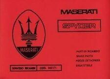 MASERATI BITURBO Spider Car Parts MANUALE SPIDER catalogo BOOK LIBRO