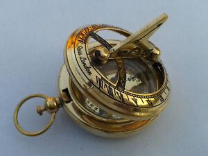 Nautical-Hand-Made-Brass-Working-Sundial-Compass-By-Masco-Nauticals