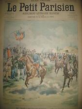 RAID HIPPIQUE MILITAIRE BRUXELLES OSTENDE ESCADRE HYERES LE PETIT PARISIEN 1902
