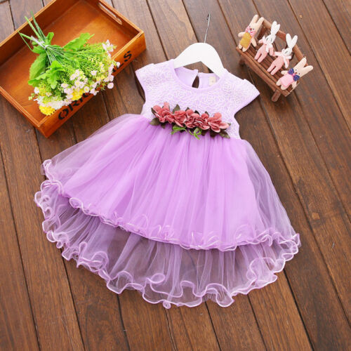 Toddler Baby Girl Princess Dress Party Wedding Pageant Formal Tutu Dress Outfits