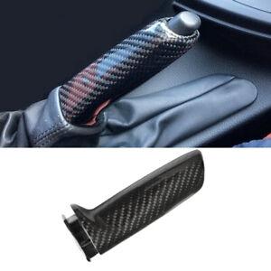 Real Carbon Fiber Handbrake Brake Handle Cover FOR BMW E46 E90 E92 F30 F32 F80