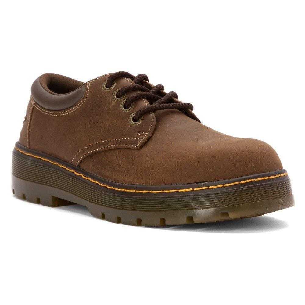Dr. Martens Men's Rivet Steel Toe Leather Work Boots
