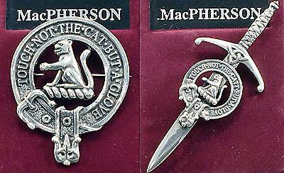 Gaelic Themes Macpherson Scottish Family Clan Crest Badge//Brooch