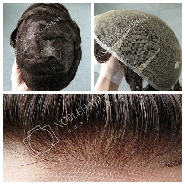 Undetectable Fine Swiss Lace Human Hair Replacement Men Toupee Hairpiece  System  10adf5b6e