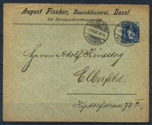 Schweiz 1900 Brief 100 25 C Basel Phil Horburg Elberfeld Ebay