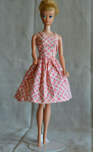 vintage barbie clone pink sun dress  60s  ebay