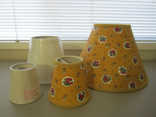 Pierre Deux Yellow Ochre Avignonet French Country Toile Lamp Shade Chandelier