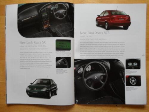 CITROEN XSARA Range 2000 2001 UK Market Sales Brochure
