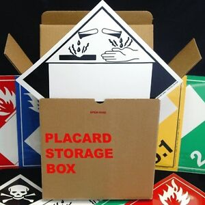 Blank Window Tagboard Placard Kit (12 of each listed placard)