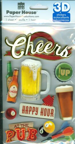 "/""Cheers Paper House Productions Beer/"" 3-D Stickers"