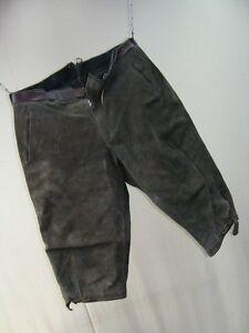 Schöne alte Kinder Jugend Lederhose 3/4tel dreiviertel capri hose Leder