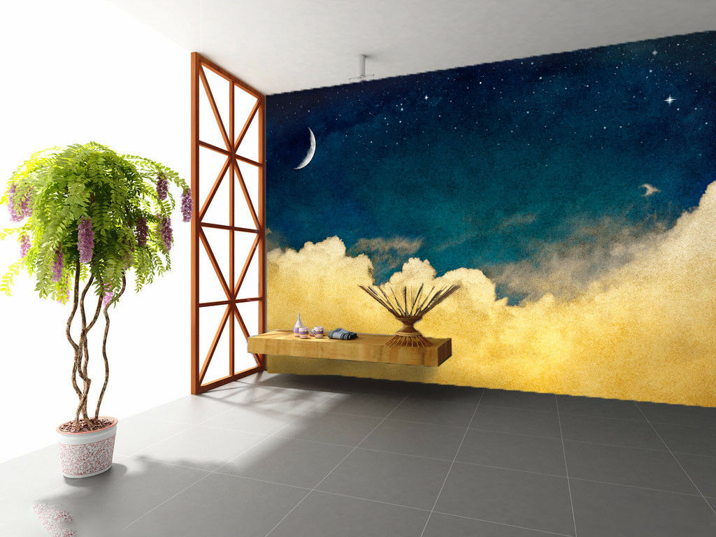 3D Moonlight 485 Wallpaper Murals Wall Print Wallpaper Mural AJ WALL UK Carly