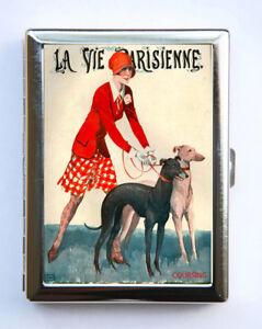 Cigarette-Case-id-case-Wallet-La-Vie-Parisienne-Greyhound-Dog-Art-Deco