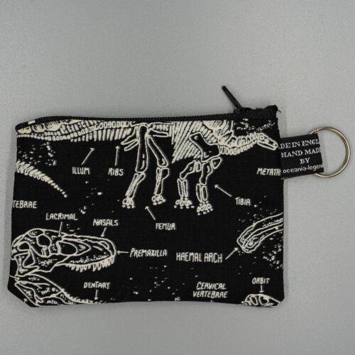Walking Dead Zombie Squelette Dinosaure Porte-monnaie Cash Money portefeuille 100/% coton