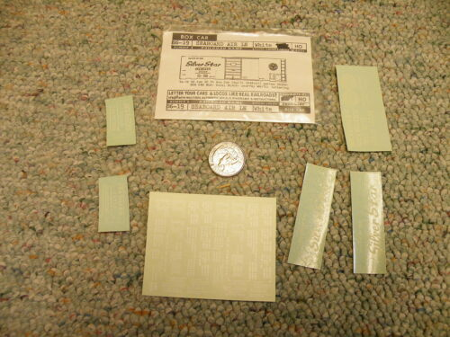 Walthers  decals HO Box Car 86-19 Seaboard Silver Star Air  white  M70