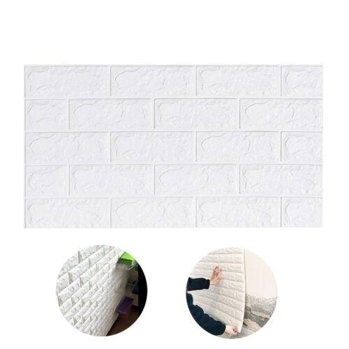 DIY 3D Foam Stone Brick Self-adhesive Wallpaper Home Wall Sticker Pad 70x38.5cm