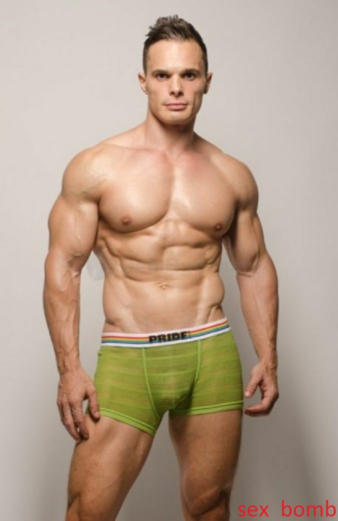 Sexy Boxer Slip Pride USA green tg. M Push Up Intimo men Fashion GLAMOUR