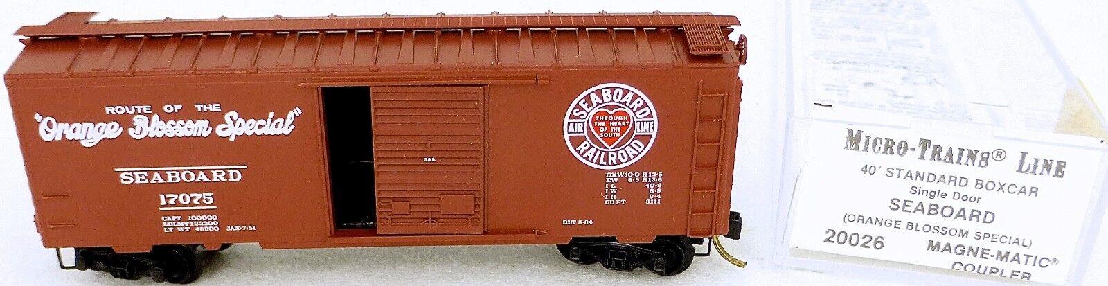 40´ 40´ 40´ Estándar Boxcar Individual Puerta Seaboard Micro Trains Line 20026 N 1 160 D 636cd9