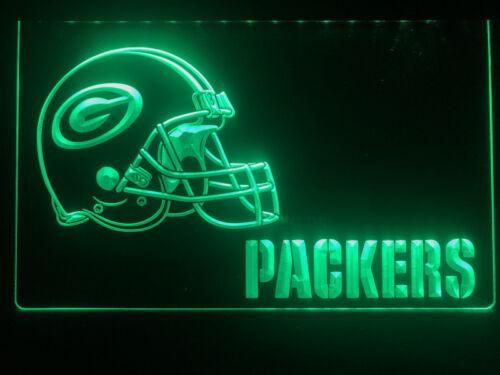 Green Bay Packers Helmet LED sign 3D Neonzeichen Leuchtschild Leuchte Lampe Neon