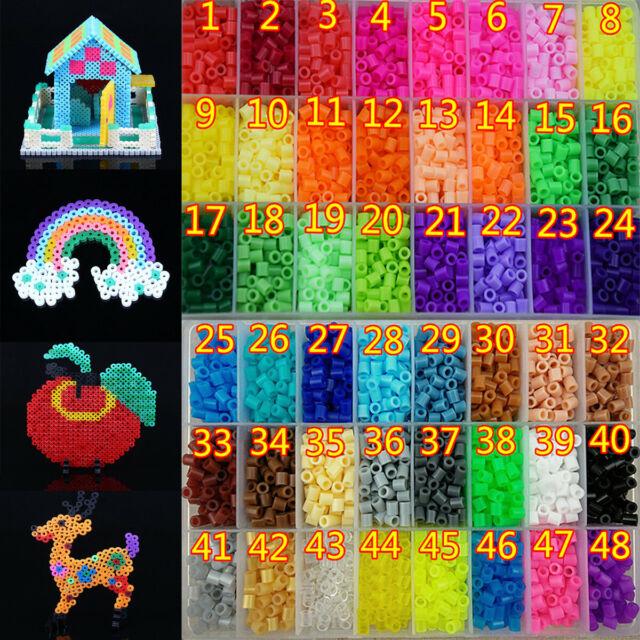 Hot sale 1000pcs HAMA//PERLER Beads for GREAT Kids Fun DIY Craft  Colorful 2.6mm