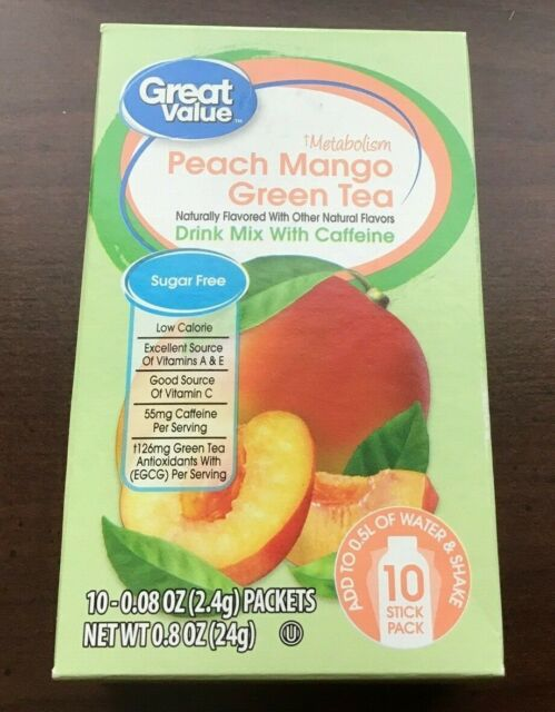 how much caffiene in great value diet tea