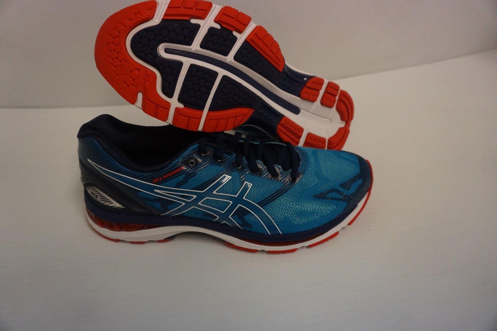 Asics Uomo gel nimbus 19 running shoes diva blue size white indigo blue size blue 9.5 us bd69d6