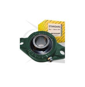 UCFL207-20-1-1-4-DUNLOP-2-Bullone-Flangiato-Auto-Lube-Alloggiamento-Cuscinetto