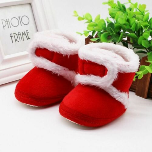 Warm Newborn Boots Toddler Shoes First Walkers Winter Baby Girls Boys Soft Sole