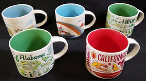 """Starbucks """"You Are Here"""" and """"Been There"""" Collection Mugs 14oz Various Locations"""