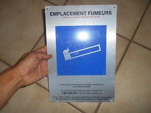 Plaque-Aluminium-Emplacement-fumeur-deco-loft-industrielle-usine-cigarette