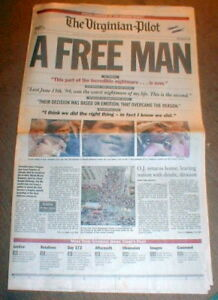 1995 headline newspaper OJ SIMPSON MURDER TRIAL -a FREE ...