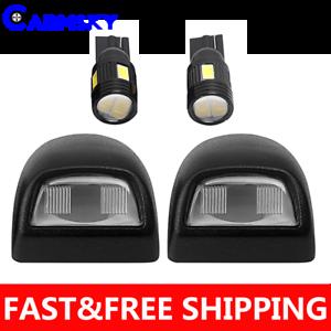 A Pair License Plate Light Lens for Pickup Escalade Silverado Sierra FREE LAMPS