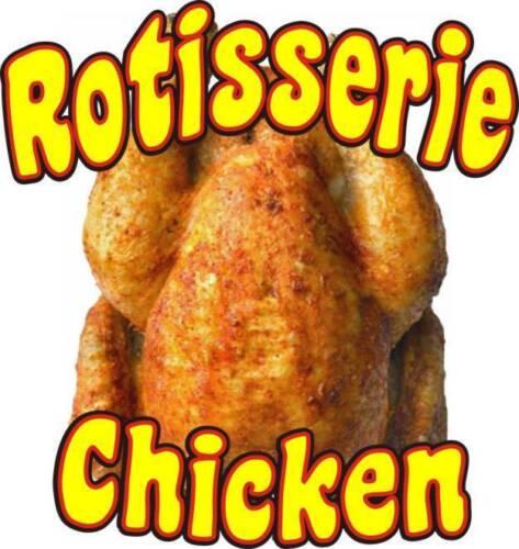 """Chicken Rotisserie Decal 14/"""" Concession Food Truck Restaurant Vinyl Sign Sticker"""
