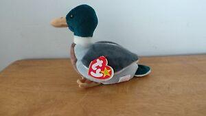 a362ad8d286 Ty Jake Mallard Duck Rare Errors Mistake 1998 1997 Beanie Baby Mint ...