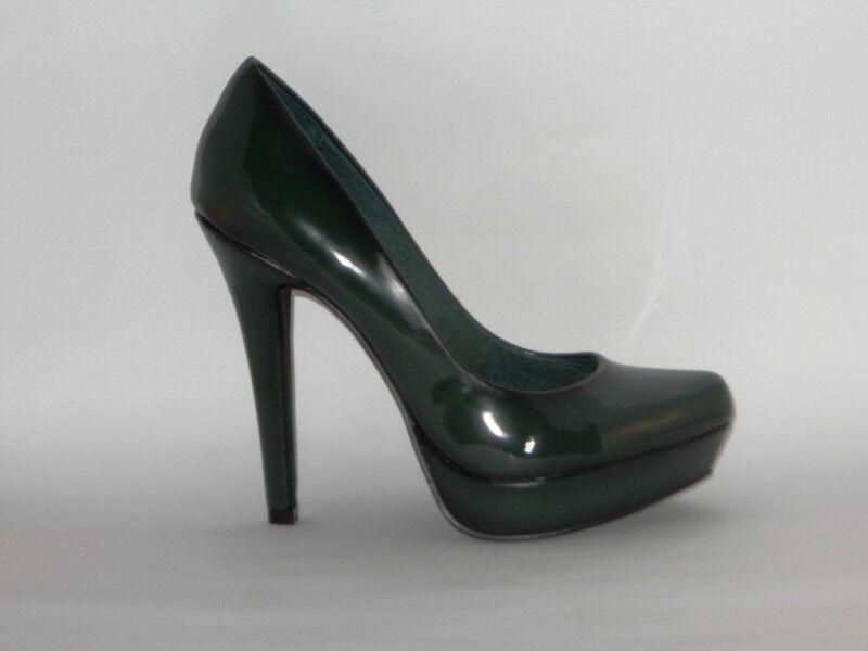 CAFEblack DECOLLETE DECOLTE shoes women VERNICE green TACCO 12 SPILLO PLATEAU