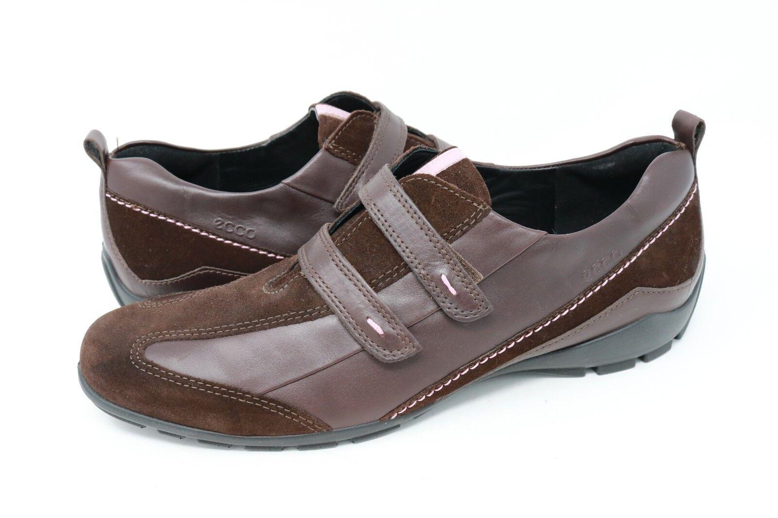 Ecco damen braun braun braun Leather Walking schuhe Comfort Hook And Loop Größe 40   9 b950dc