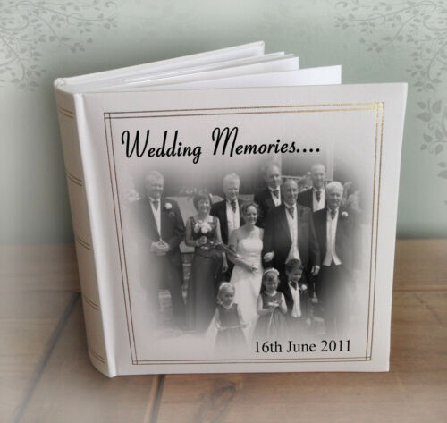 "Wedding Engagement present Personalised large photo album 200 x 7x5/"" photos"